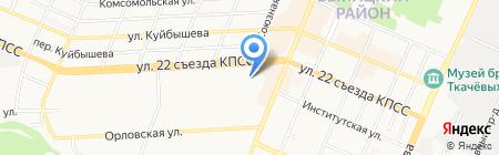 Полиграф на карте Брянска