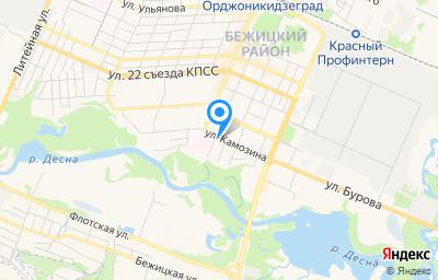 Местоположение на карте пункта техосмотра по адресу г Брянск, ул Камозина, стр 9