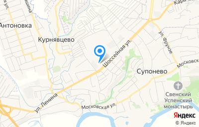 Местоположение на карте пункта техосмотра по адресу Брянская обл, Брянский р-н, с Супонево, ул Шоссейная, д 34