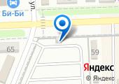 Автостоянка на ул. Ульянова на карте