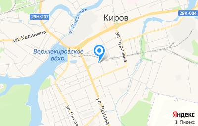 Местоположение на карте пункта техосмотра по адресу Калужская обл, г Киров, ул Воровского, д 4