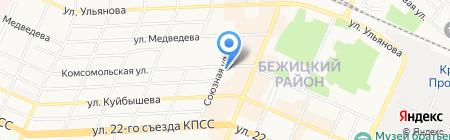 Брянские квартиры на карте Брянска