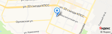 Максимум Веб на карте Брянска