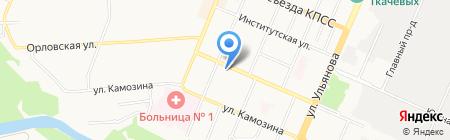 Гемотест на карте Брянска