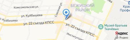 Брянское жилищное бюро на карте Брянска