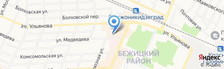 Модистка на карте Брянска