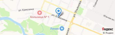 Промтехстрой на карте Брянска