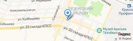Салон-парикмахерская на ул. Куйбышева на карте Брянска