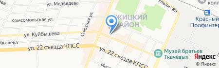 Реабилитационный центр для лиц с дефектами умственного и физического развития Бежицкого района на карте Брянска