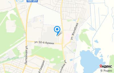 Местоположение на карте пункта техосмотра по адресу г Брянск, пер Камвольный, д 3А