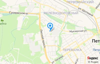 Местоположение на карте пункта техосмотра по адресу г Петрозаводск, р-н Перевалка, ул Плеханова, д 2 стр 2, пом 1