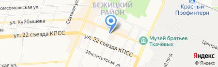 Мастерская по ремонту обуви на Харьковской на карте Брянска