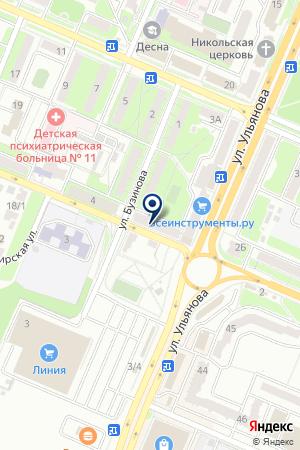ДОПОЛНИТЕЛЬНЫЙ ОФИС № 0128 БРЯНСКОЕ ОТДЕЛЕНИЕ № 8605 СБЕРБАНК РОССИИ на карте Брянска