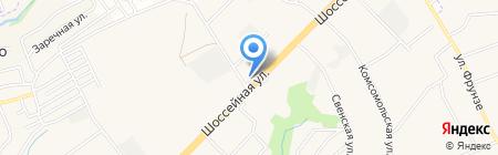 Автомойка на Шоссейной на карте Супонево