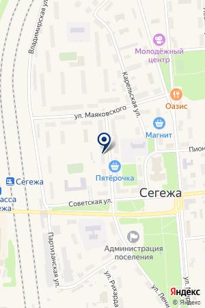 КОМПЬЮТЕРНЫЙ ЦЕНТР ПЕТРОЧУК О. Б. на карте Сегежи