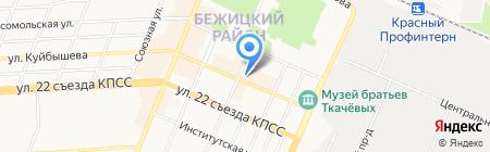 Будуар на карте Брянска