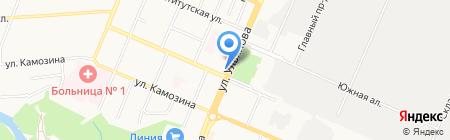 Продуктовый магазин на ул. Ульянова на карте Брянска