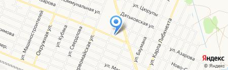 Магазин продуктов на Ново-Советской на карте Брянска