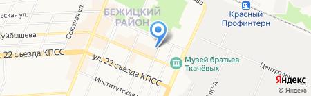 Ростовский на карте Брянска