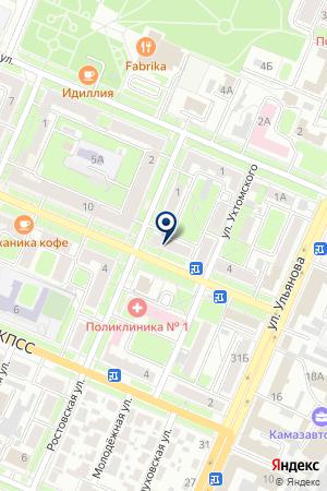 АПТЕКА № 5 на карте Брянска