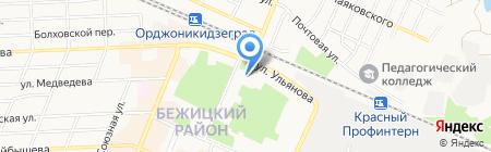 Фабрика-кухни на карте Брянска