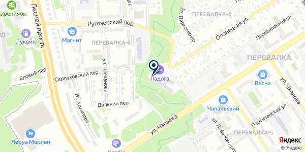 МАГАЗИН СТРОИТЕЛЬНЫХ ТОВАРОВ ВИКИНГ на карте Олонеце