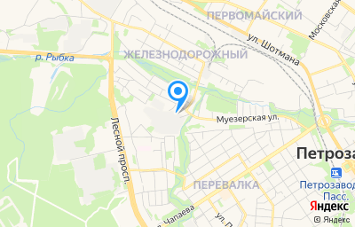 Местоположение на карте пункта техосмотра по адресу г Петрозаводск, р-н Перевалка, ул Муезерская, д 15А