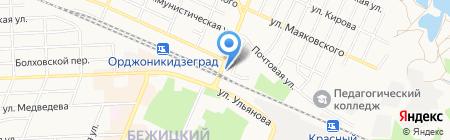 Продуктовый магазин на ул. Карла Либкнехта на карте Брянска