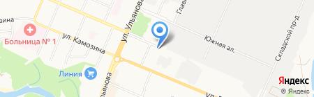 Тиро на карте Брянска