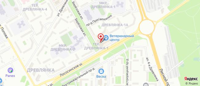 Карта расположения пункта доставки Петрозаводск Лососинское в городе Петрозаводск