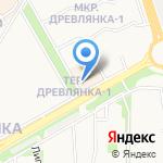 Фианката на карте Петрозаводска