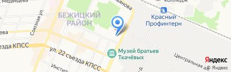 Управление Пенсионного фонда РФ в Бежицком районе на карте Брянска
