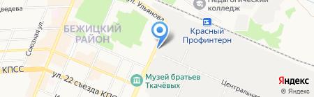 Брянский машиностроительный завод на карте Брянска