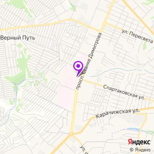 Брянская областная больница №1 на карте