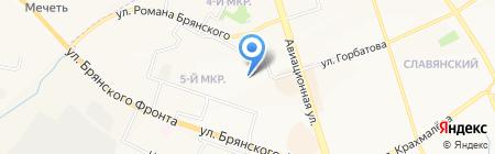 Детский сад №53 на карте Брянска