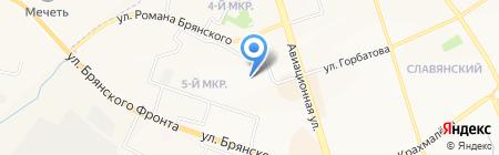 Спартаковец на карте Брянска