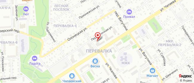 Карта расположения пункта доставки Билайн в городе Петрозаводск
