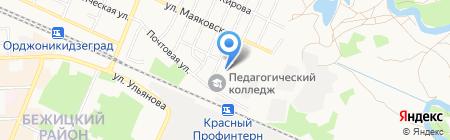 Брянский профессионально-педагогический колледж на карте Брянска