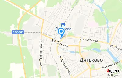 Местоположение на карте пункта техосмотра по адресу Брянская обл, г Дятьково, ул Станционная, д 26