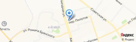 Дикая река на карте Брянска