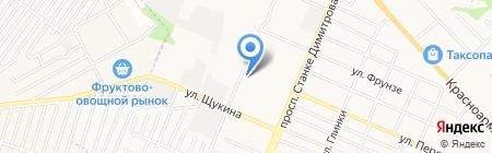 АЗС Виктория на карте Брянска