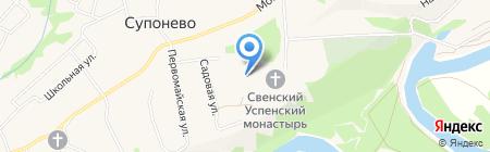 Свято-Успенский Свенский мужской монастырь на карте Супонево