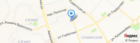 Средняя общеобразовательная школа №60 на карте Брянска
