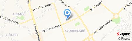 Авиционный на карте Брянска