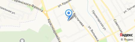 Средняя общеобразовательная школа №56 на карте Брянска