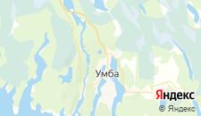 Отели города Умба на карте