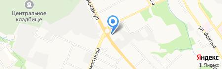 Взгляд на карте Брянска