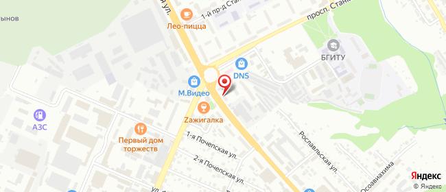 Карта расположения пункта доставки Lamoda/Pick-up в городе Брянск