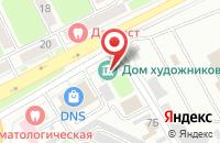 Схема проезда до компании Матрица в Брянске