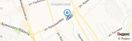 Автостоянка на ул. Крахмалёва на карте Брянска